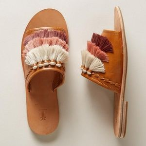 Frye Riley Tassel leather Slide sandal Sundance